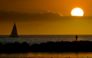 sunset int the beach