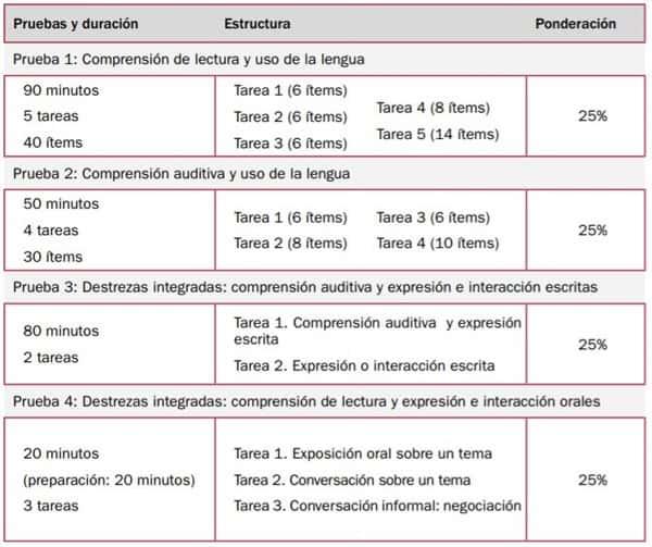 DELE C1 Exam Structure