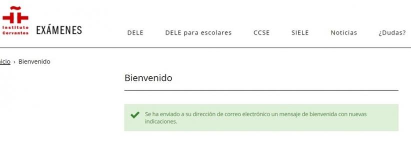 DELE Registration Step 2